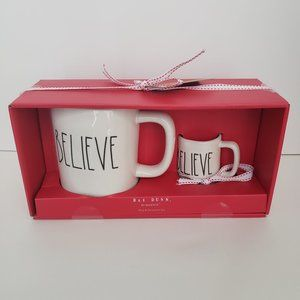 Rae Dunn Ceramic Mug & Ornament Gift Set BELIEVE